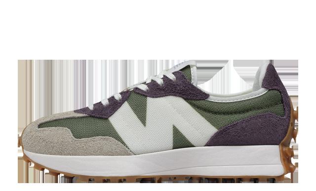 New Balance 327 Green Purple