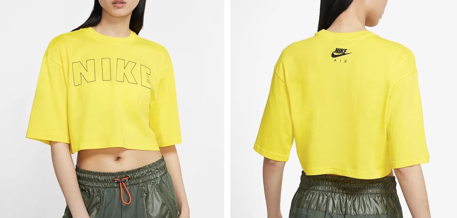 Nike Air Cropped T-Shirt Opti Yellow