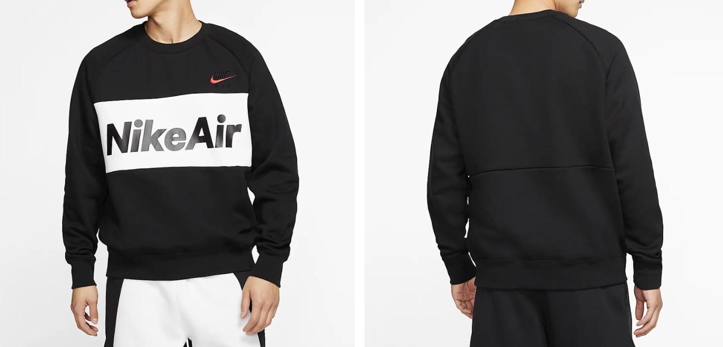 Nike Air Fleece Crew Black:Red