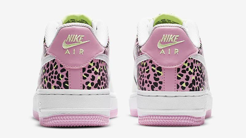 Nike Air Force 1 07 GS White Pink Rise Back