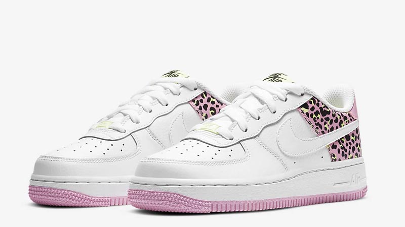 Nike Air Force 1 07 GS White Pink Rise Front
