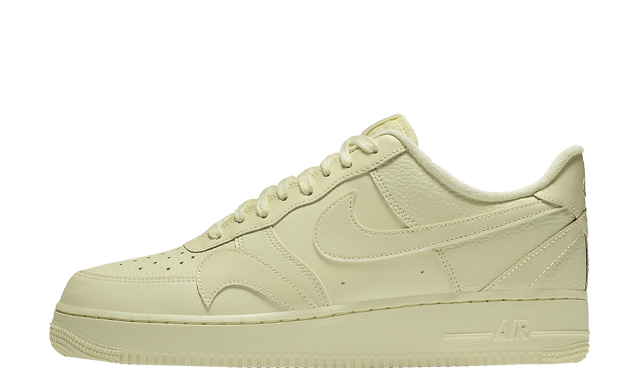 Nike Air Force 1 Misplaced Swoosh Pale Yellow