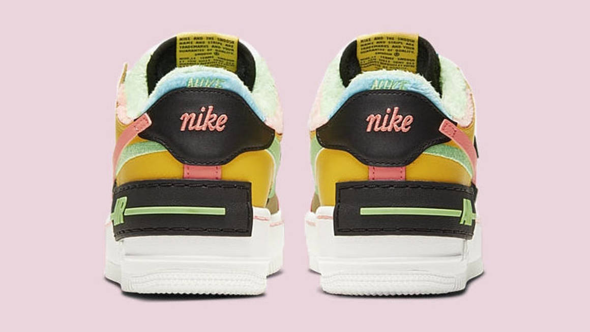 Fluffy Insoles Make This Multicoloured Air Force 1 Shadow A New Season Must Have The Sole Womens Nike air jordan 3 retro se (free shipping) shop now. multicoloured air force 1 shadow