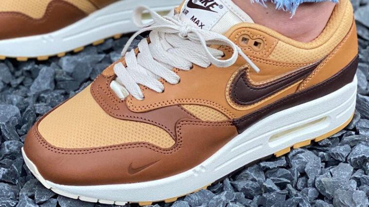 Nike Air Max 1 SNKRS Day Brown On Foot Top thumbnail image