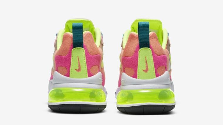 Nike Air Max 270 React Pink Volt Back thumbnail image
