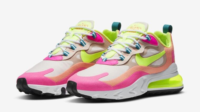Nike Air Max 270 React Pink Volt Front thumbnail image