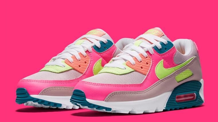 Nike Air Max 90 Pink Volt Front thumbnail image