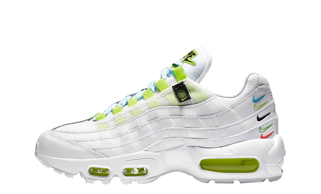 Nike Air Max 95 SE Worldwide White Volt Blue Fury