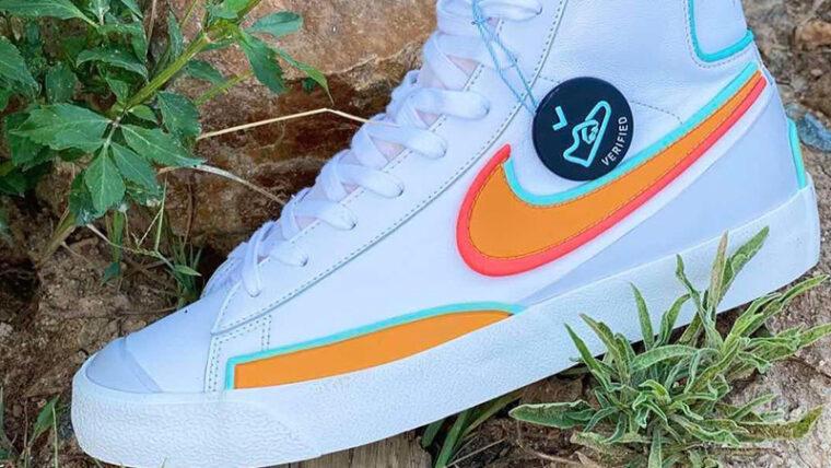 Nike Blazer Mid 77 D-MS-X White Bright Crimson Lifestyle thumbnail image