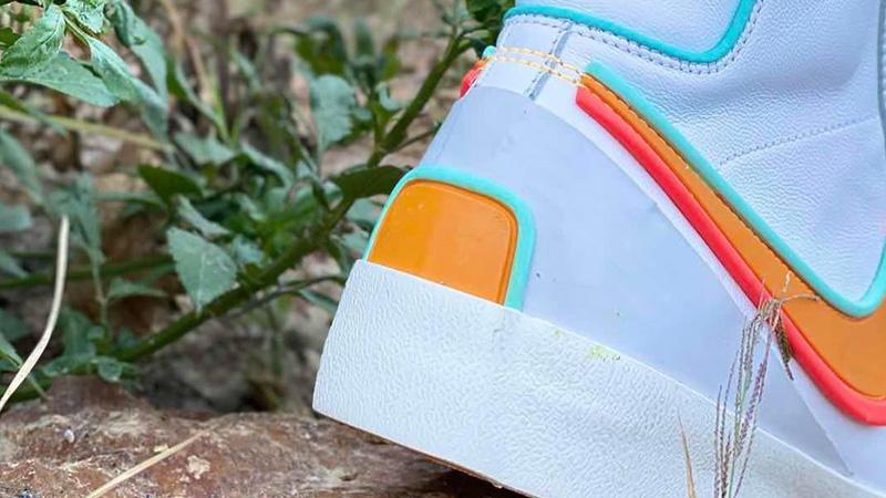 Nike Blazer Mid 77 D-MS-X White Bright Crimson Lifestyle Back