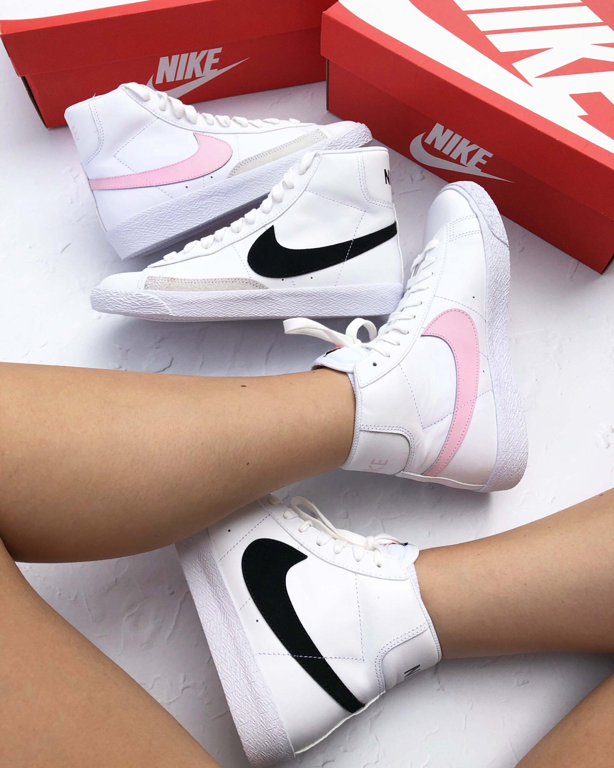Nike Blazer Mid 77 Vintage GS Pink Black 2