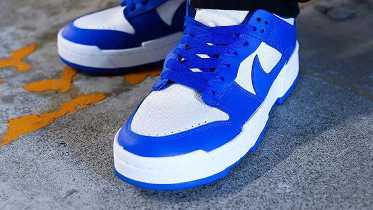 Nike Dunk Low Disrupt Game Royal Blue On Foot thumbnail image