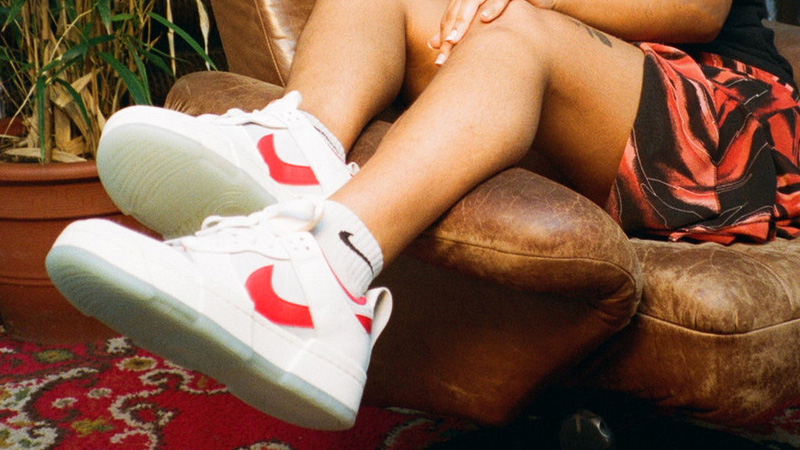 Nike Dunk Low Disrupt Gym Red On Foot