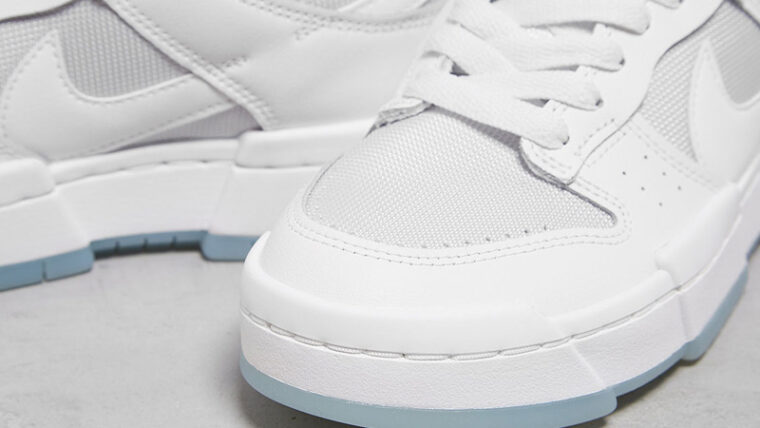 Nike Dunk Low Disrupt Photon Dust Closeup thumbnail image