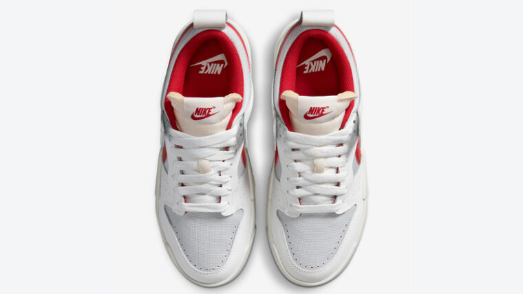 Nike Dunk Low Disrupt White Red Middle thumbnail image
