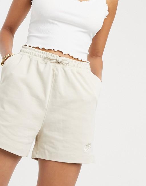 Nike premium jersey high waist shorts in oatmeal
