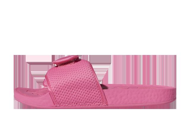 Pharrell Williams x adidas Boost Slide Semi Solar Pink