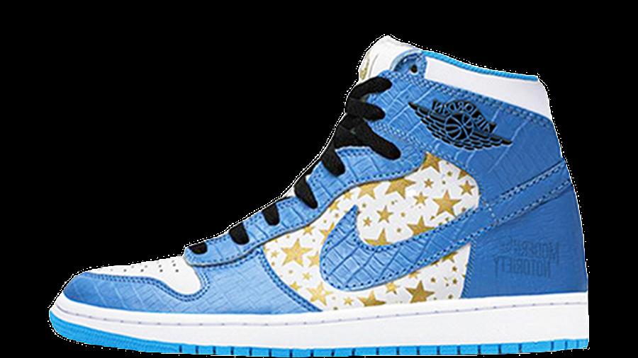 Supreme x Jordan 1 High Stars University Blue