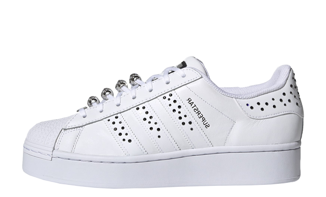 Swarovski x adidas Superstar Bold White Black