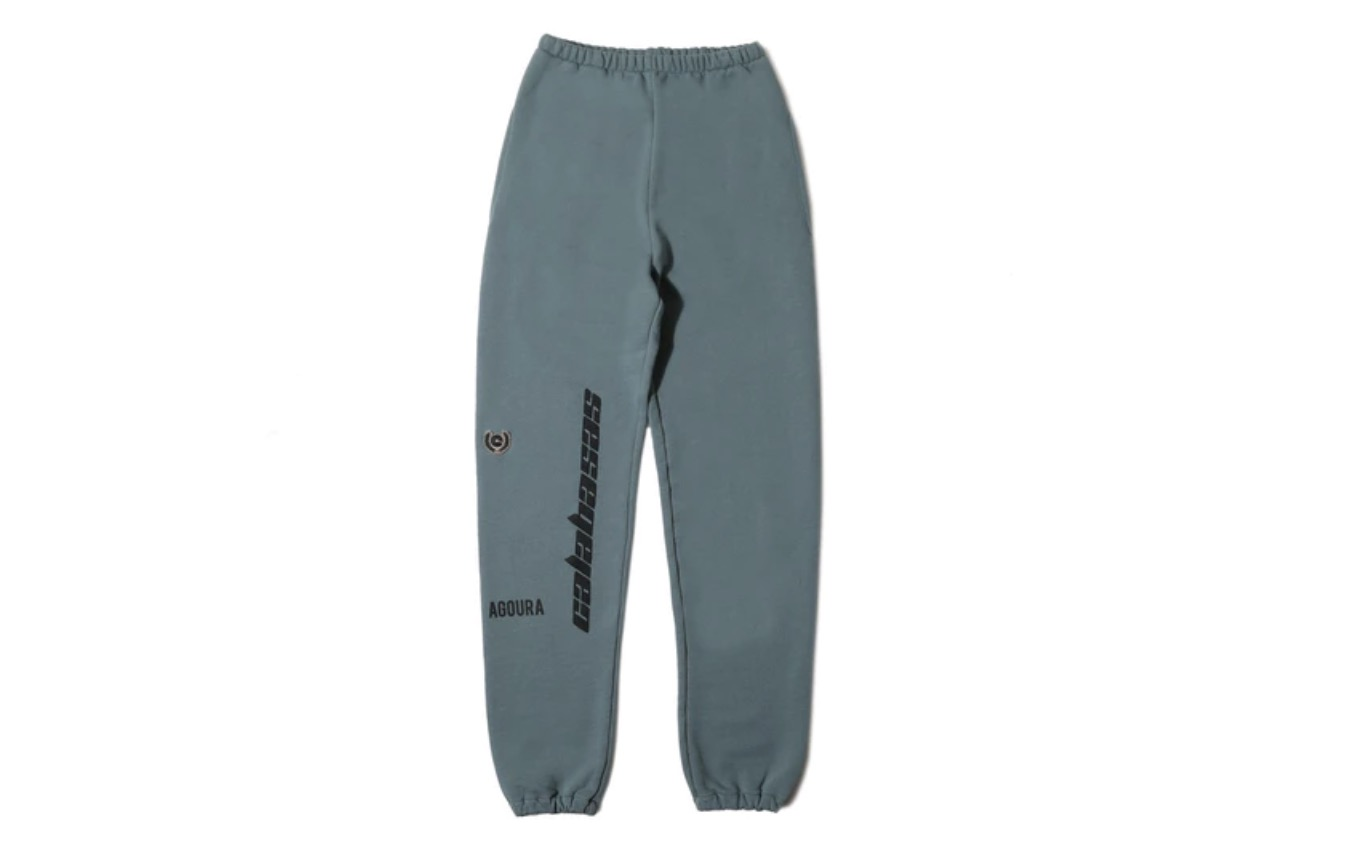 Yeezy Calabasas Embroidered French Terry Pants Hospital Blue