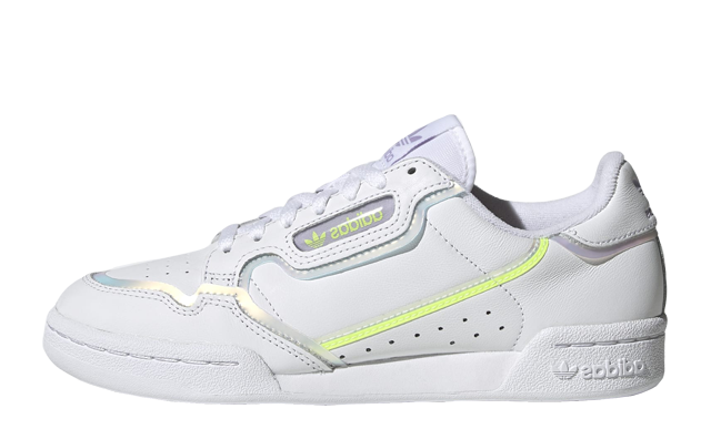 adidas Continental 80 White Hi-Res Yellow