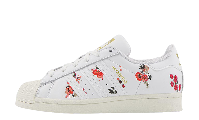 adidas Superstar Off White Floral