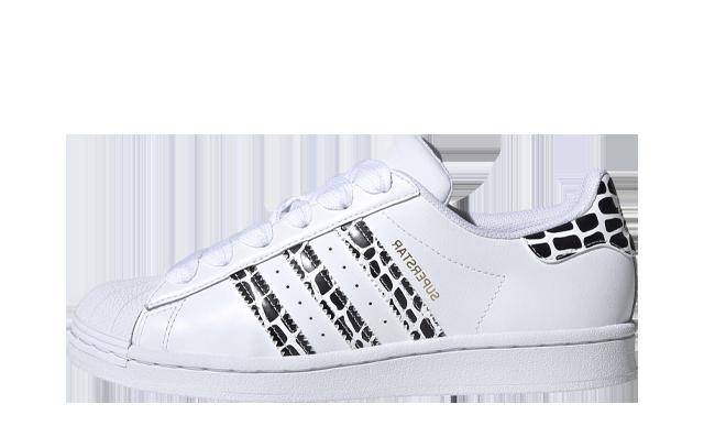 adidas Superstar White Leopard Stripes