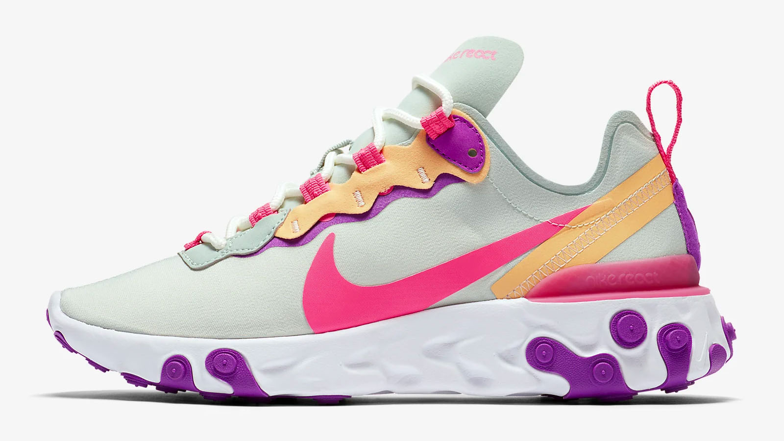 nike react element 55 pink purple