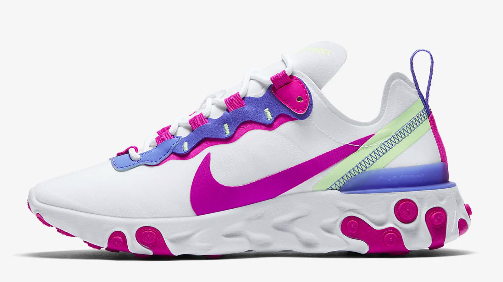 nike react element purple green