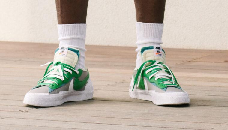 sacai x Nike Blazer Low Green