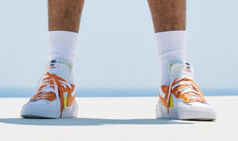 sacai x Nike Blazer Low Orange