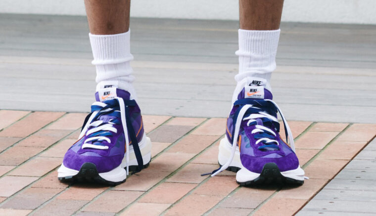 sacai x Nike VaporWaffle Purple