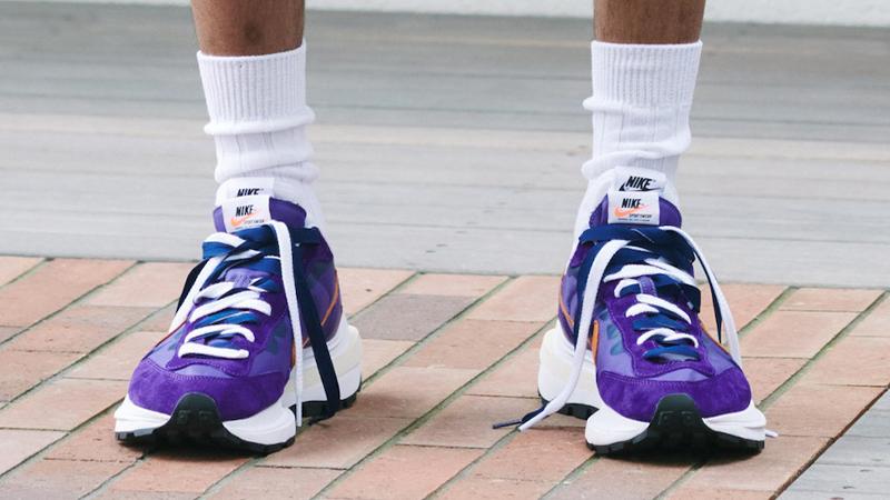 sacai x Nike VaporWaffle Purple White