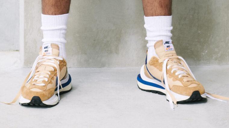 sacai x Nike VaporWaffle Tan