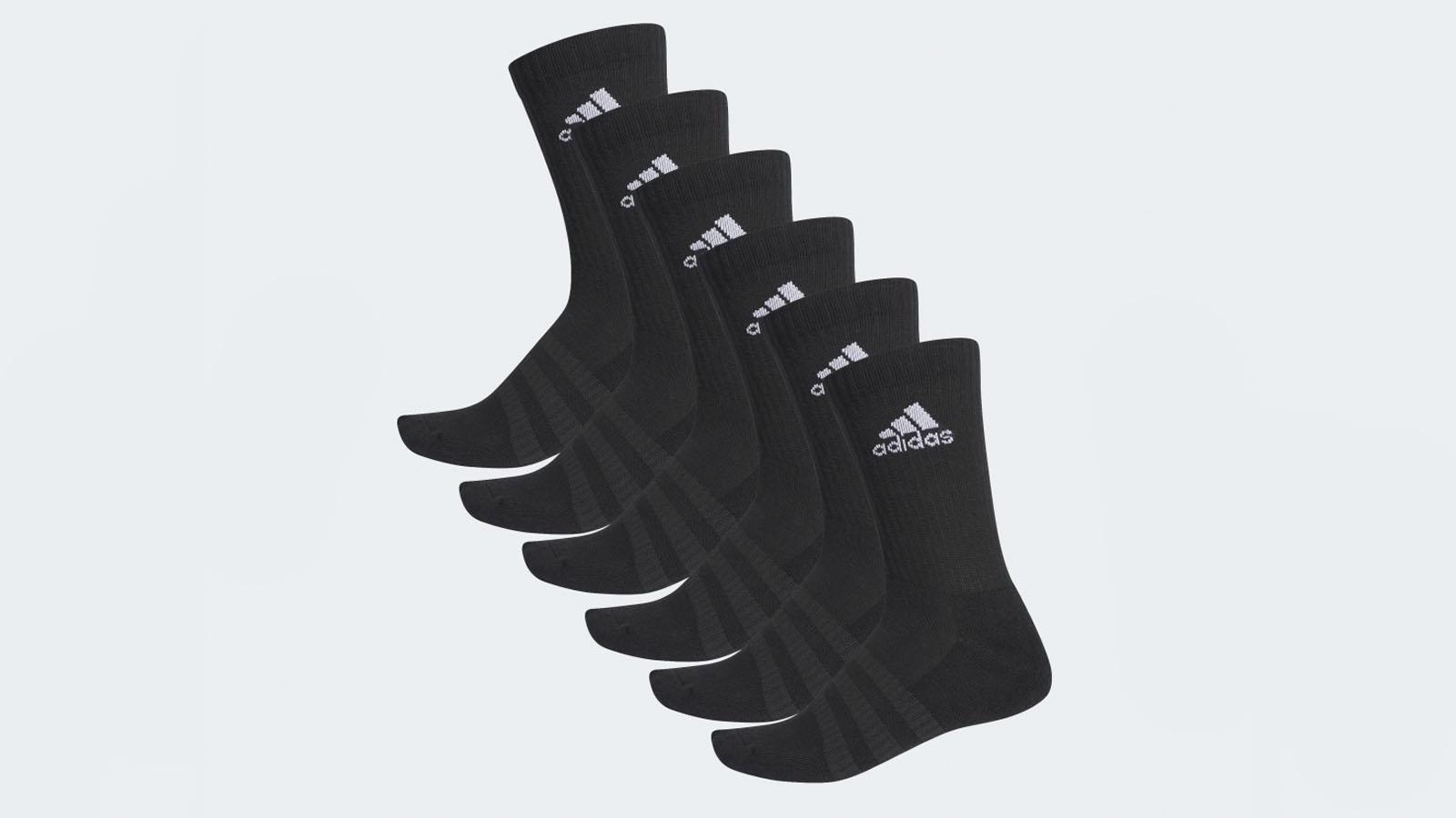 6 pack black adidas socks