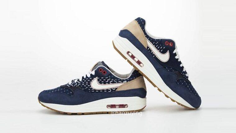 Denham x Nike Air Max 1 Denim Blue Slanted thumbnail image