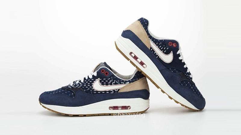 Denham x Nike Air Max 1 Denim Blue Slanted
