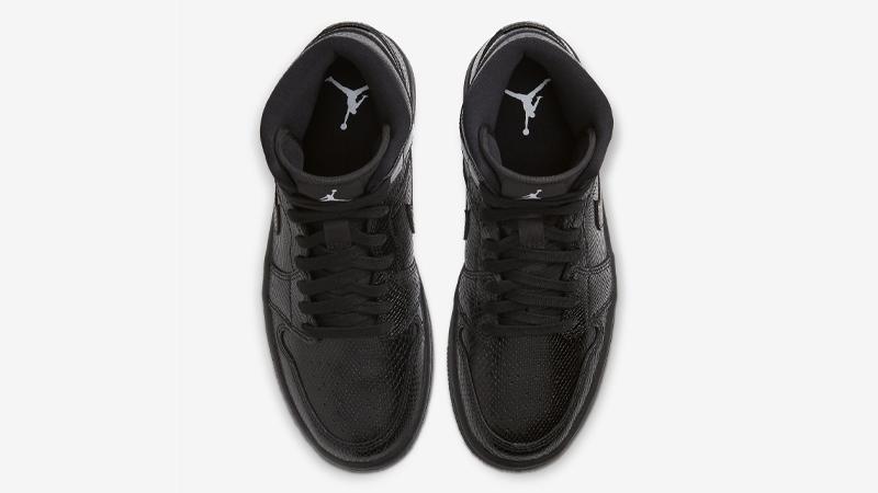 Jordan 1 Mid Black Snakeskin Middle