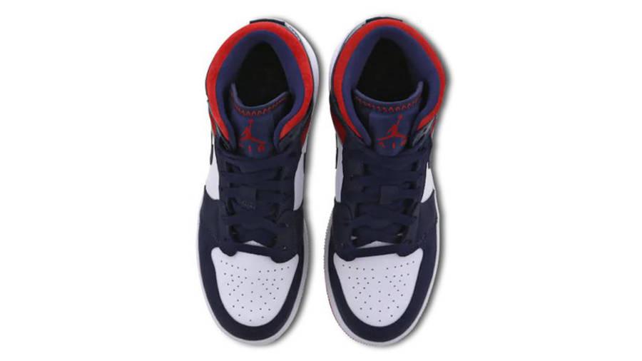 Air Jordan 1 Mid GS 'USA Olympic'