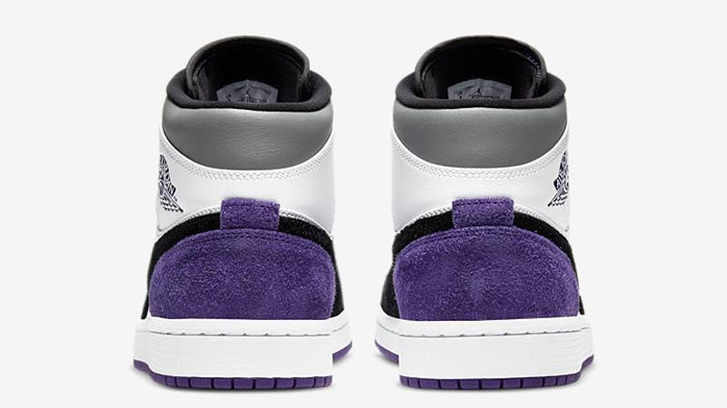 Jordan 1 Mid SE Varsity Purple Back
