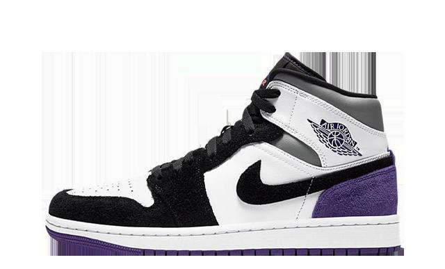 Jordan 1 Mid SE Varsity Purple Black