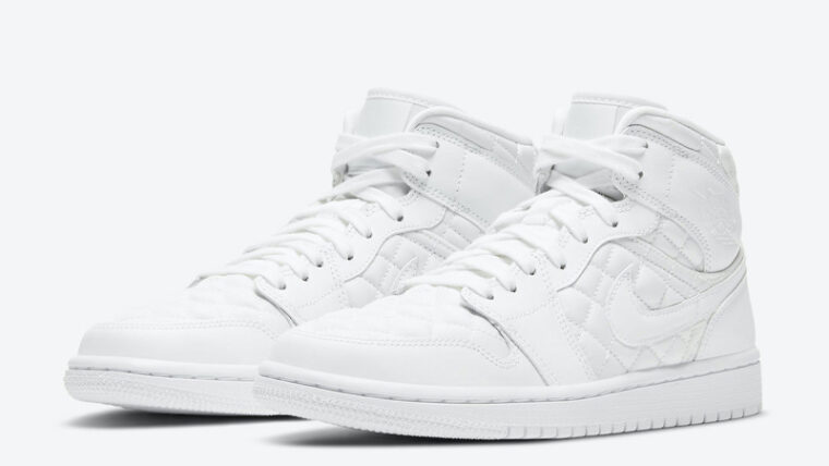 Jordan 1 Mid SE White Quilted Front thumbnail image