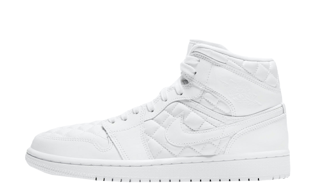 Jordan 1 Mid SE White Quilted