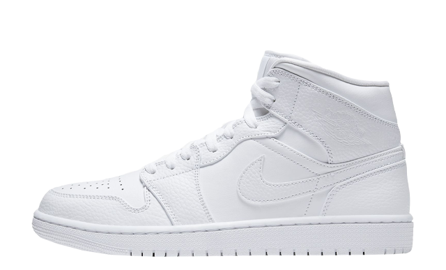 Jordan 1 Mid Triple White