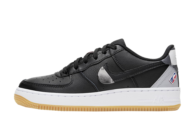 NBA x Nike Air Force 1 LV8 GS Black Wolf Grey