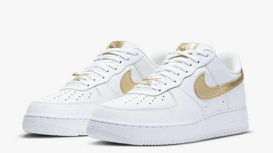 Nike Air Force 1 Low White Metallic Gold   Where To Buy   DC2181 ...
