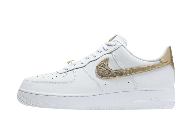 Nike Air Force 1 Low White Metallic Gold