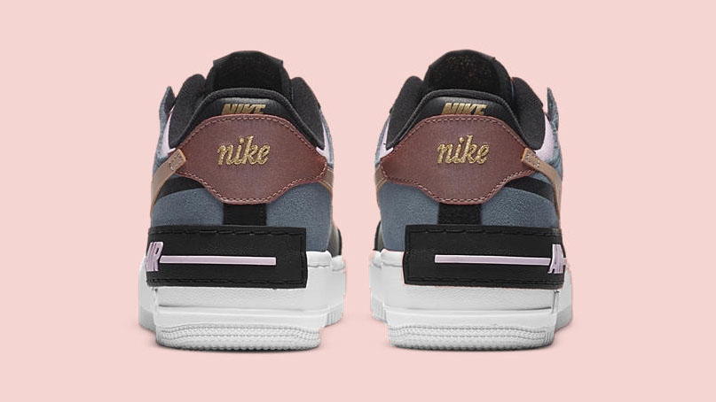 The Nike Air Force 1 Shadow Gets A Bronze Makeover For Fall The Sole Womens Detailing on mystic navy/white features hits of pink, white and red throughout. the nike air force 1 shadow gets a