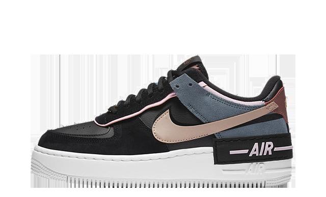 Nike Air Force 1 Shadow Black Metallic Red Bronze