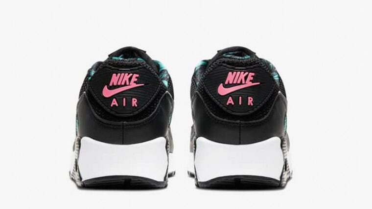 Nike Air Max 90 Black New Green Back thumbnail image